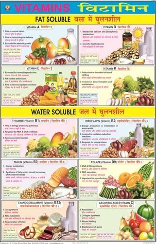 Vitamins for food nutrition chart shikshan ke chart n c