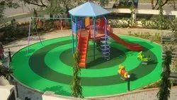 Eco Elastic Rubber Playground Flooring