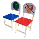 kids chairs with printed laminated backs