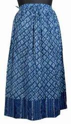 10 Cotton Block Printed Wrap Skirts Dress SW43