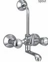 Channel Faucets Modern Wall Mixer With Bend For Overhead Shower, For Bathroom Fitting