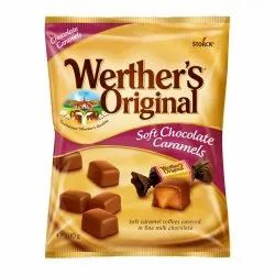 Werther's Original Soft Chocolate Caramels Candy 100g, Packaging Type: Packet