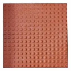Red Cement Dotted Chequered Paver Tiles, Size: 12x12, Thickness: 20mm
