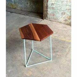 Brown Modern Hexagon Coffee Table