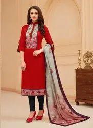 Glace Cotton Churidar Suits