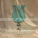 Color Glass Hurricane Lamps