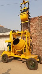 Two Channel Lift Machine Concrete Mixer
