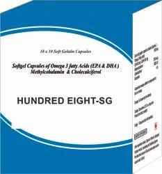 Softgel Capsules of Omega 3 Fatty Acids (EPA and DHA) Methylcobalamin and Cholecalciferol