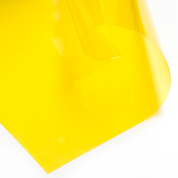 PVC Flexible Yellow Transparent Sheet