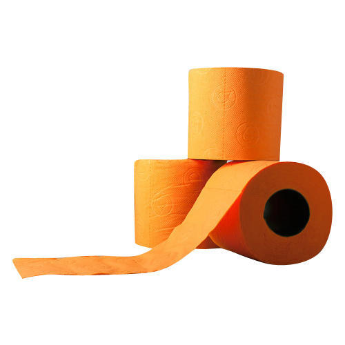 Orange Coloured Toilet Paper Roll
