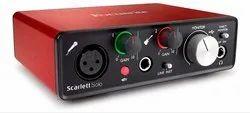 240 Volts Red Focusrite Scarlett Solo USB Audio Interface