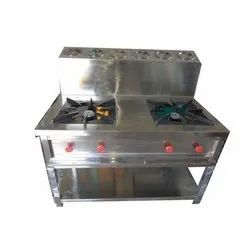 Two Burner Indian Gas Range With GN Pain