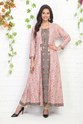 Printed Cotton Kurti With Block Printed Jacket