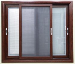 UPVC Shutter Mesh Window