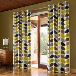 4-6 Feet Polyester Readymade Eyelet Curtain