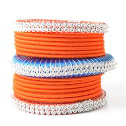 Indian Handcraft New Look Neon Color Silk Thread Bangles