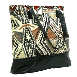 Printed Handbags Jacquard Handbag, Packaging Type: Packet