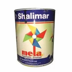 High Gloss Alkyd Base Shalimar Synthetic Enamel Paint, For Interior & Exterior, Packaging Type: Tin