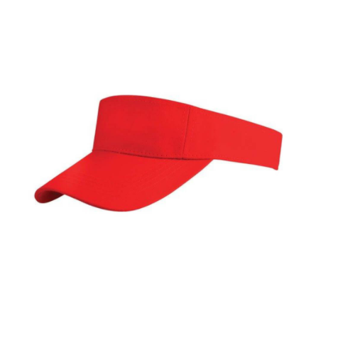 ba7c45f1ad253c Red Cotton Visor Cap, Size: 58 Cm, Rs 65 /piece, Goldway Cap House ...