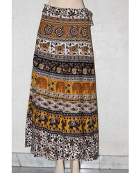 Rajasthani Printed Wrap Around Skirts