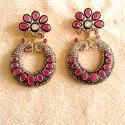 Victorian Women Designer Chandbali Earrings Set