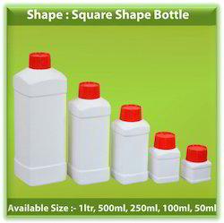 HDPE Square Shape Bottles