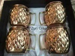 CU-28 Set of 4 Mule Copper Cups