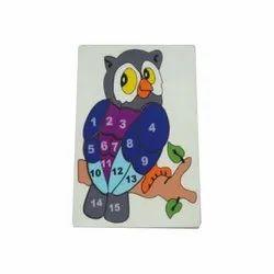 Wooden Block Number Owl