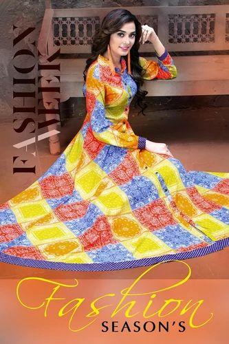 29900bb87367 Kajal Style F Season Vol 2 Long Designer Kurti at Rs 580  piece ...