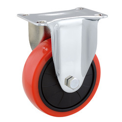 Red Stainless Steel PU Caster Wheel