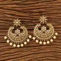 Kanhai Jewels Chand Earring With Mehndi Plating 200546