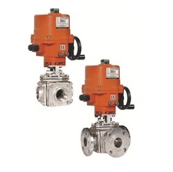 Electrical Actuator Operated Multi Port 3 & 4 Way Ball Valve