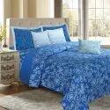 Floral French Blue Bedding King