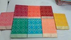 Kota Doria Gold Print Sarees