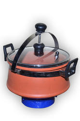 Earthen Clay Cooker (5 Liter) Glass Lid