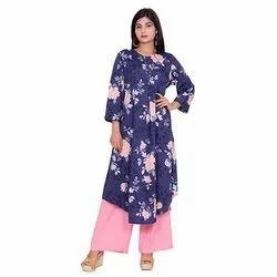 Casual Ladies Crepe Kurti