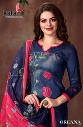Kala Oreana Printed Cotton Dress Material Catalog Collection