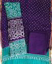 Unstitched Female Bandhani Dress Material