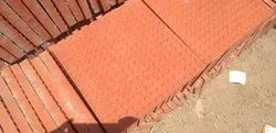 Red And Grey Aanya Pavers Chequered Car Parking Tiles, Thickness: 10-15 mm, For Flooring