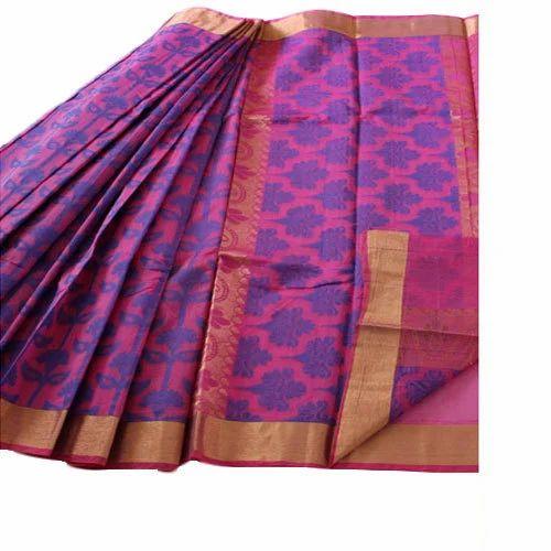 bcf1c00a5477a Light Pink Kora Cotton Saree