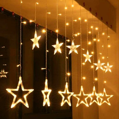 Star Light Curtain With 8 Flashing Modes Decoration For Wedding Party Home Patio Lawn