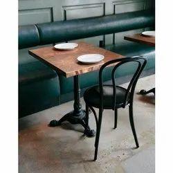 Wood Restaurant Single Table Chair Set