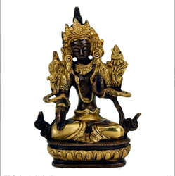 White Tara Brass/Golden Statuette