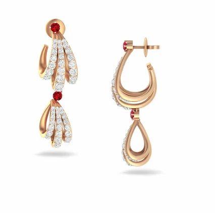 a51af6013 Classic Diamond Danglers Earrings, Third Dimension - Kirtilal ...