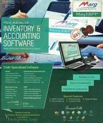 Single User Online/Offline Accounting Inventory And Billing Marg Erp 9 Software, Free Download Available