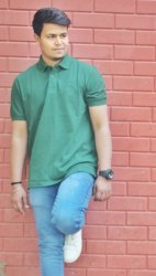 Punay Cotton Half Sleeves Polo T-Shirt