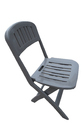 Folding Garden Dining Table-Chairs Set (1 2)-Grey-PP