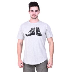 Mens Printed 100% Cotton T-Shirt 150 GSM Biowash Non Shrink Casual, Size: XL