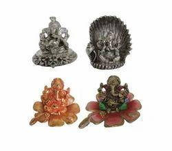Siddhi Vinayak Ganesha In White Metal Ganesha Idols