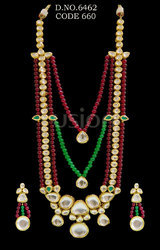 Royal Antique Kundan Necklace Set